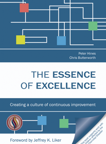 essence of excellence book cover showing shingo award